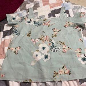 Mint Floral Blouse